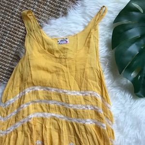 Free People Viole and Lace Trapeze Swing Dress